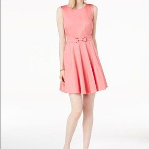 Vintage Inspired Fit & Flare Berry Pink Dress